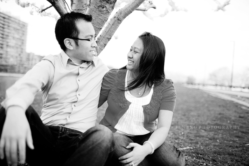 Boston engagement session on the Esplanade