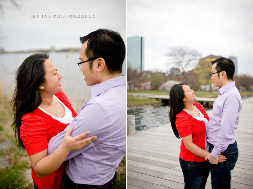 Spring engagement session in Boston, MA - sweet couple