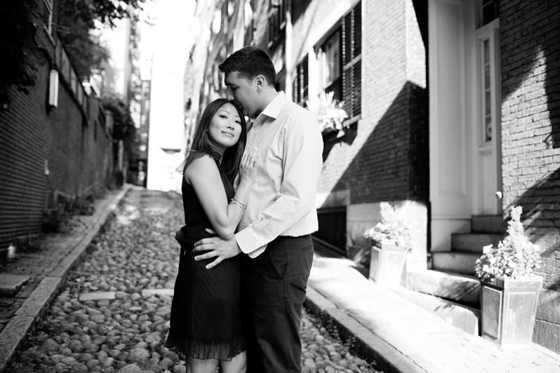 Boston wedding photographer - engagement session in Beacon Hill