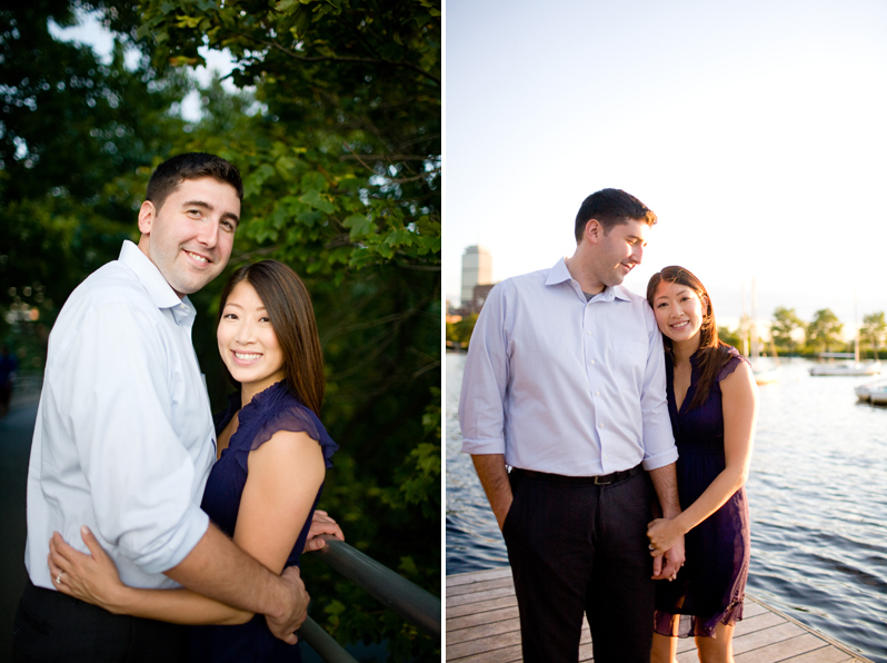 Esplanade engagement session - smiling couple