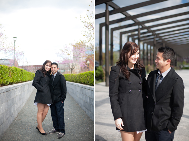 boston engagement on the rose kennedy greenway