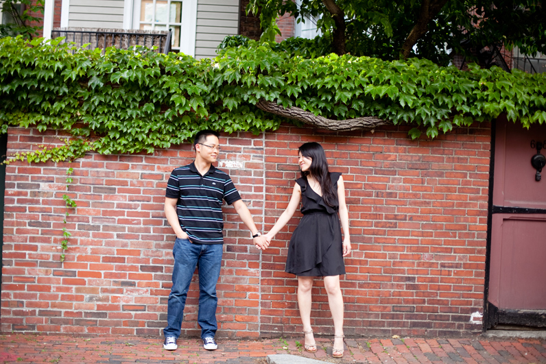 beacon hill red brick engagement