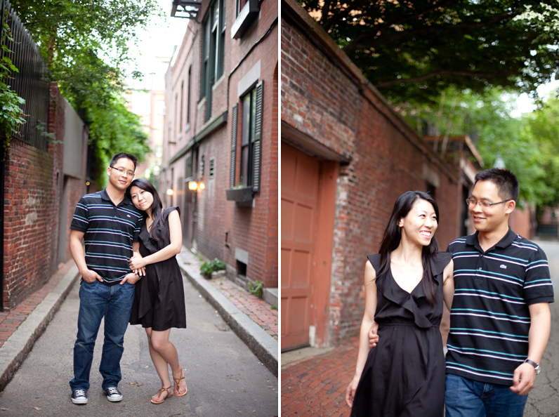 boston engagement session in beacon hill