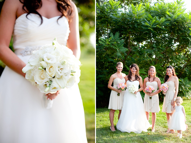 boston wedding bride and bridesmaids