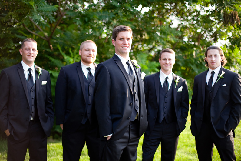 boston wedding groom and groomsmen