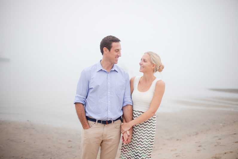 beach engagement shoot in cape cod