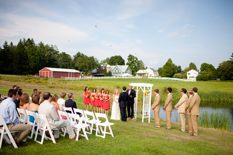 Bramble Hill farm wedding ceremony