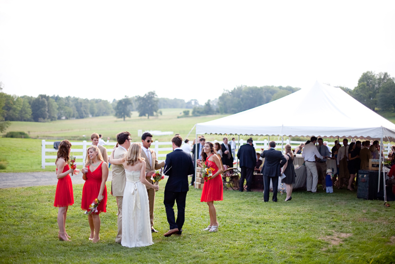 tented wedding on a farm