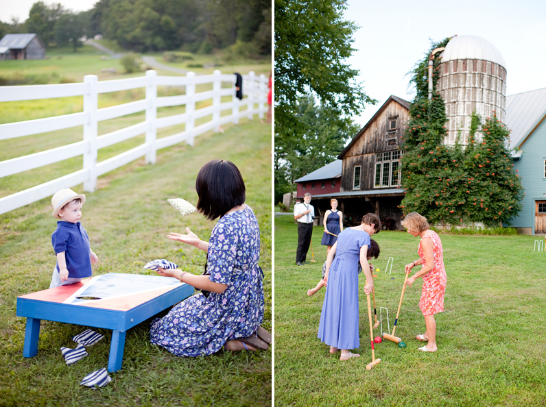 Farm wedding lawn games