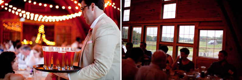intimate wedding in a barn
