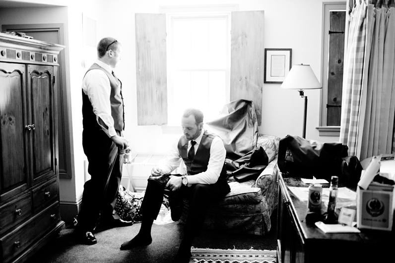 groomsmen getting ready at boston wedding