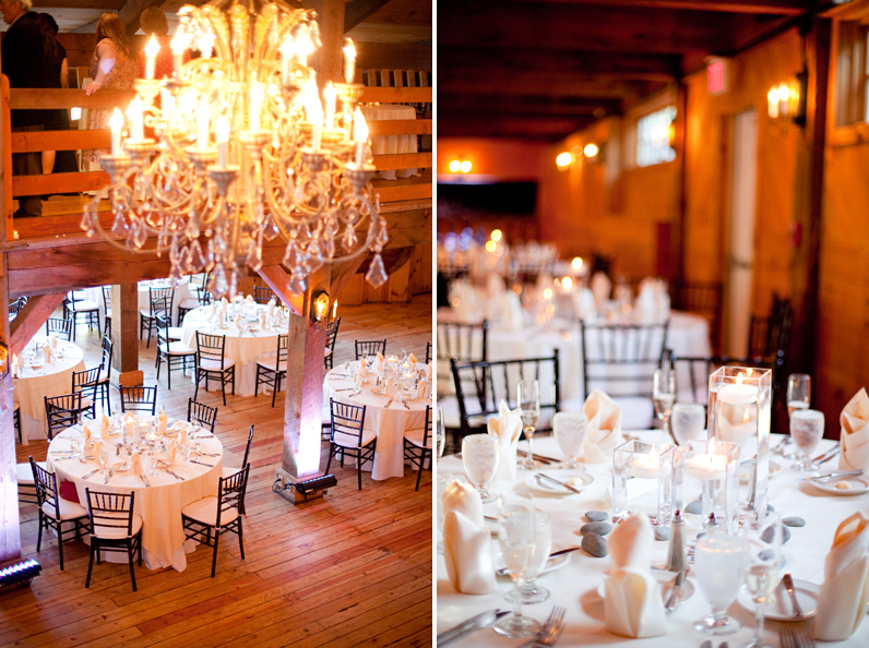 red lion inn barn wedding centerpieces