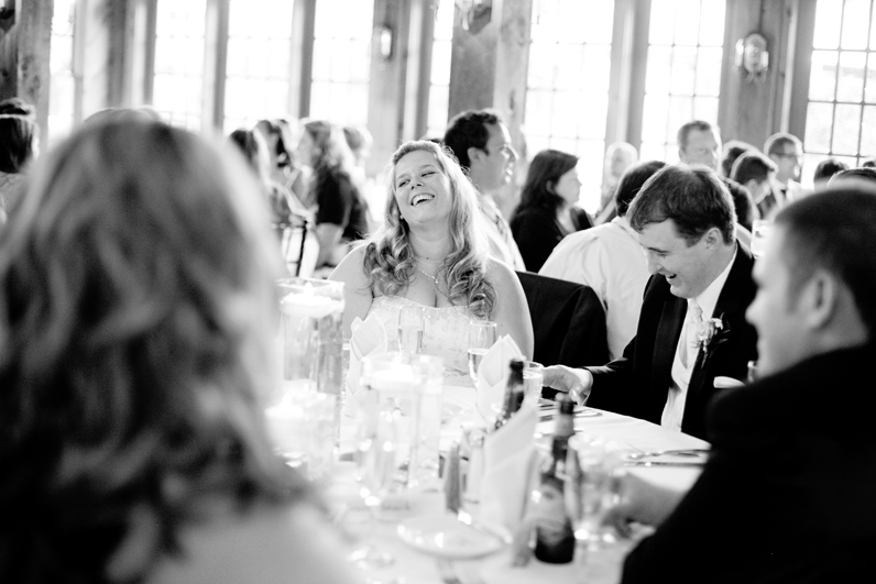 boston wedding - bride laughing