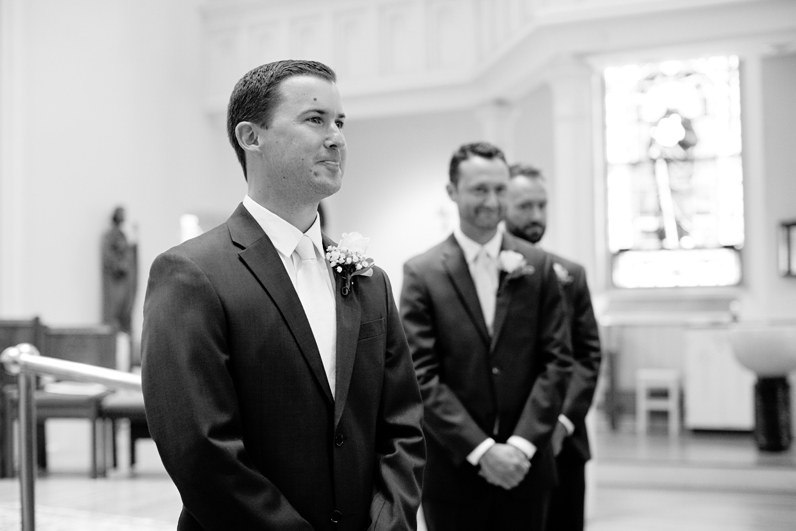 groom reaction during wedding ceremony