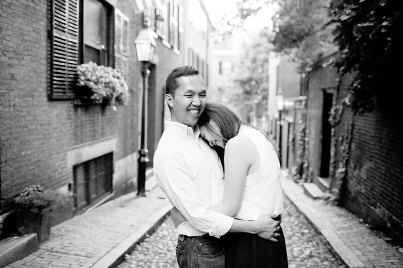 beacon hill engagement session in boston