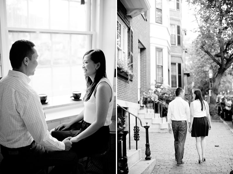 tatte bakery engagement session in beacon hill