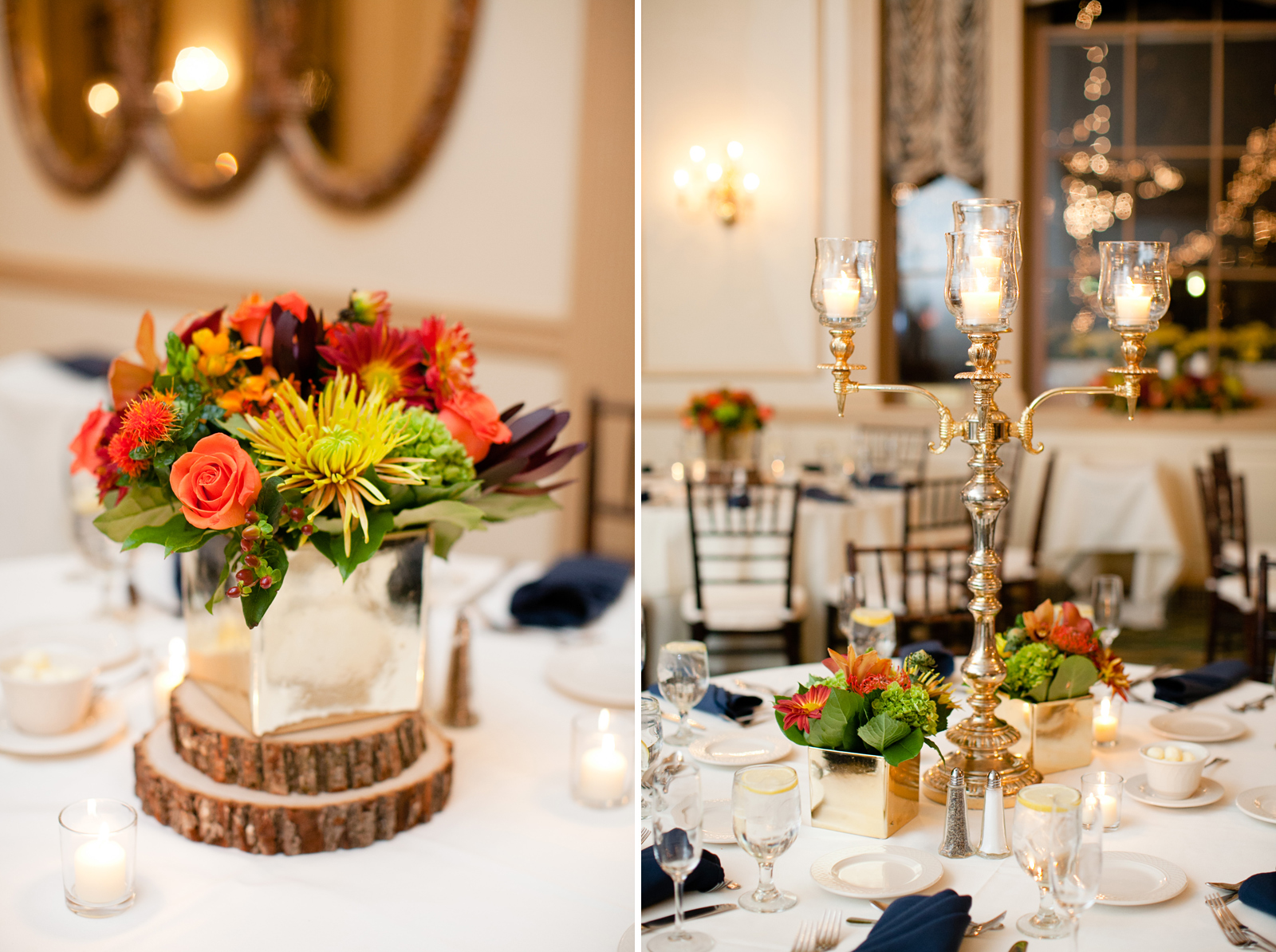 fall tablescape for new england wedding