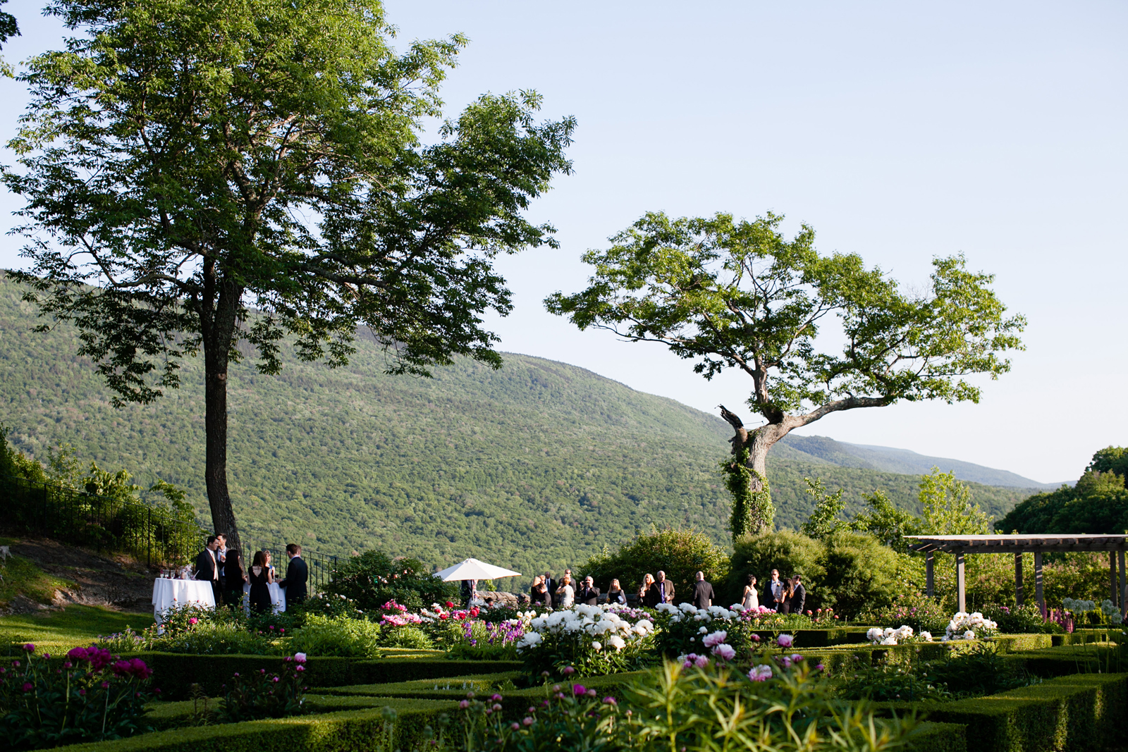 garden wedding in vermont
