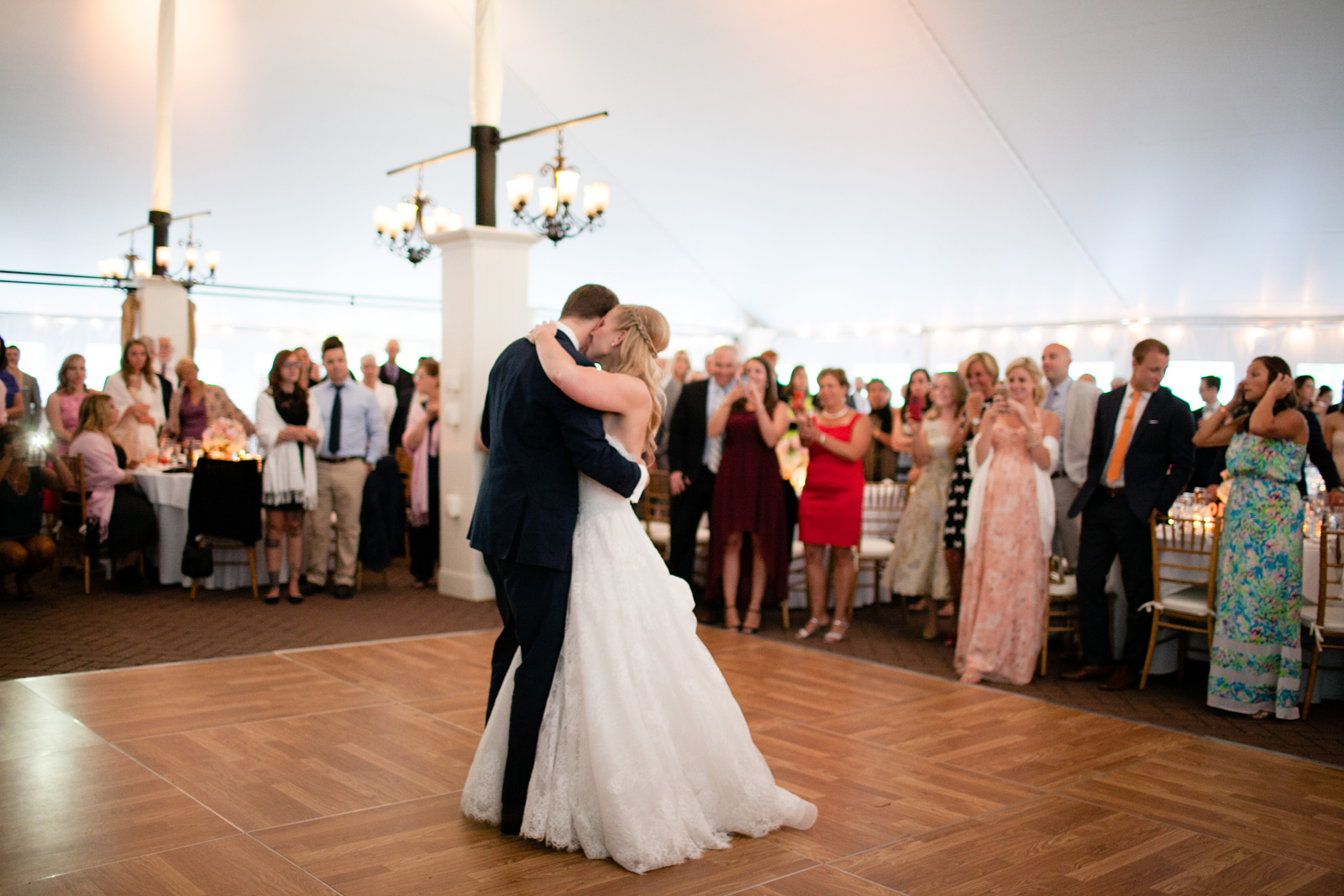 tented wedding at hildene - first dance