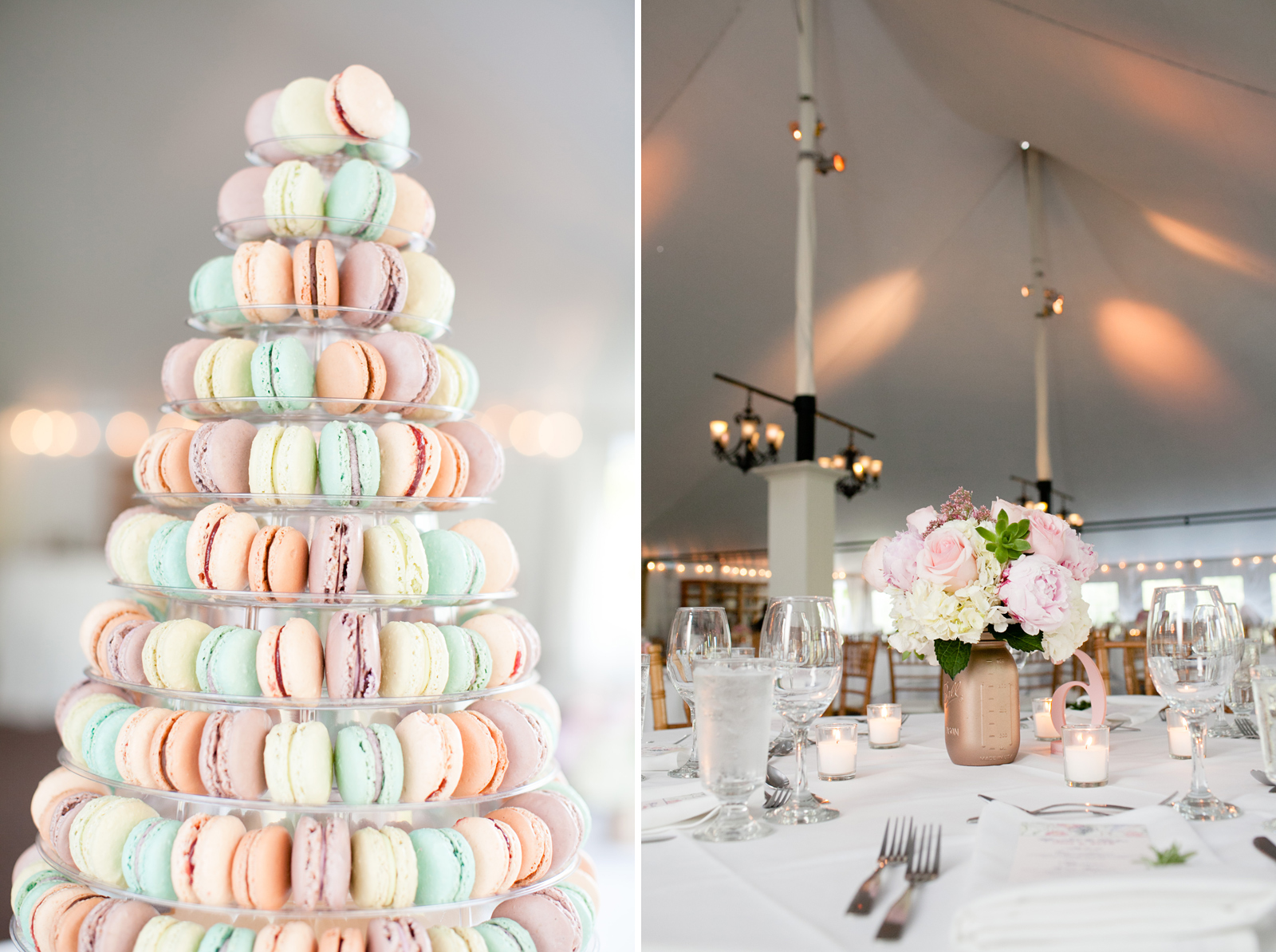 macaroons wedding cake