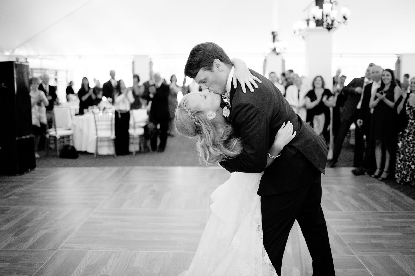 first dance new england tented wedding
