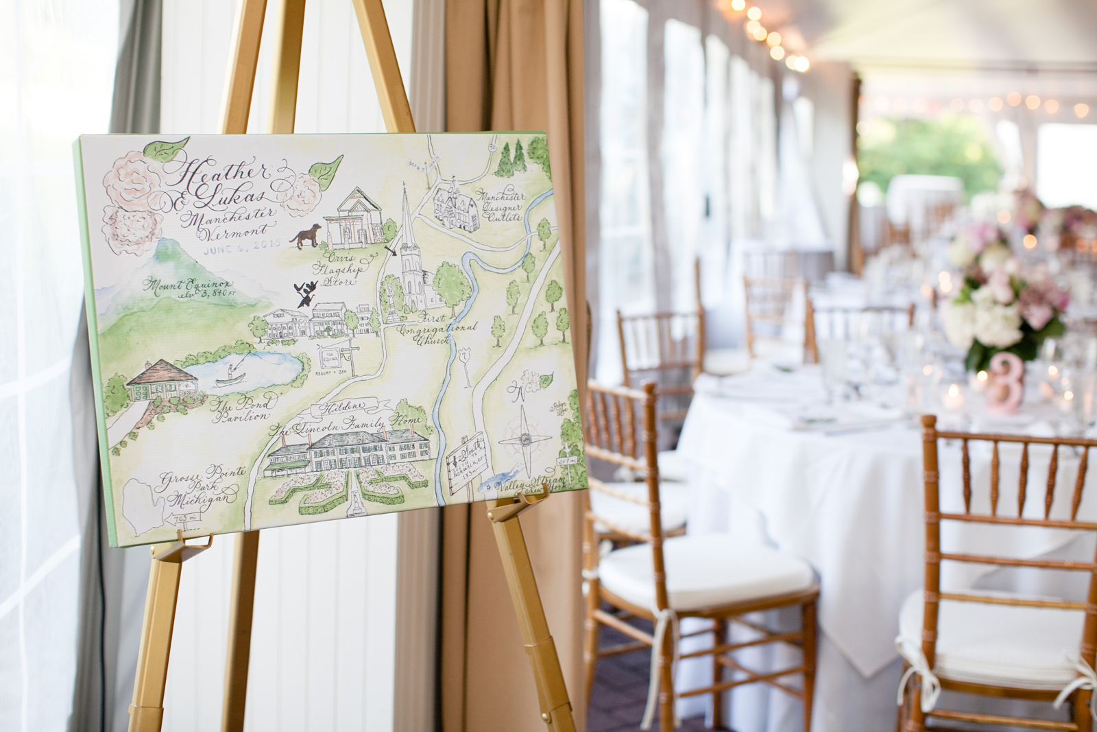 vermont new england wedding map