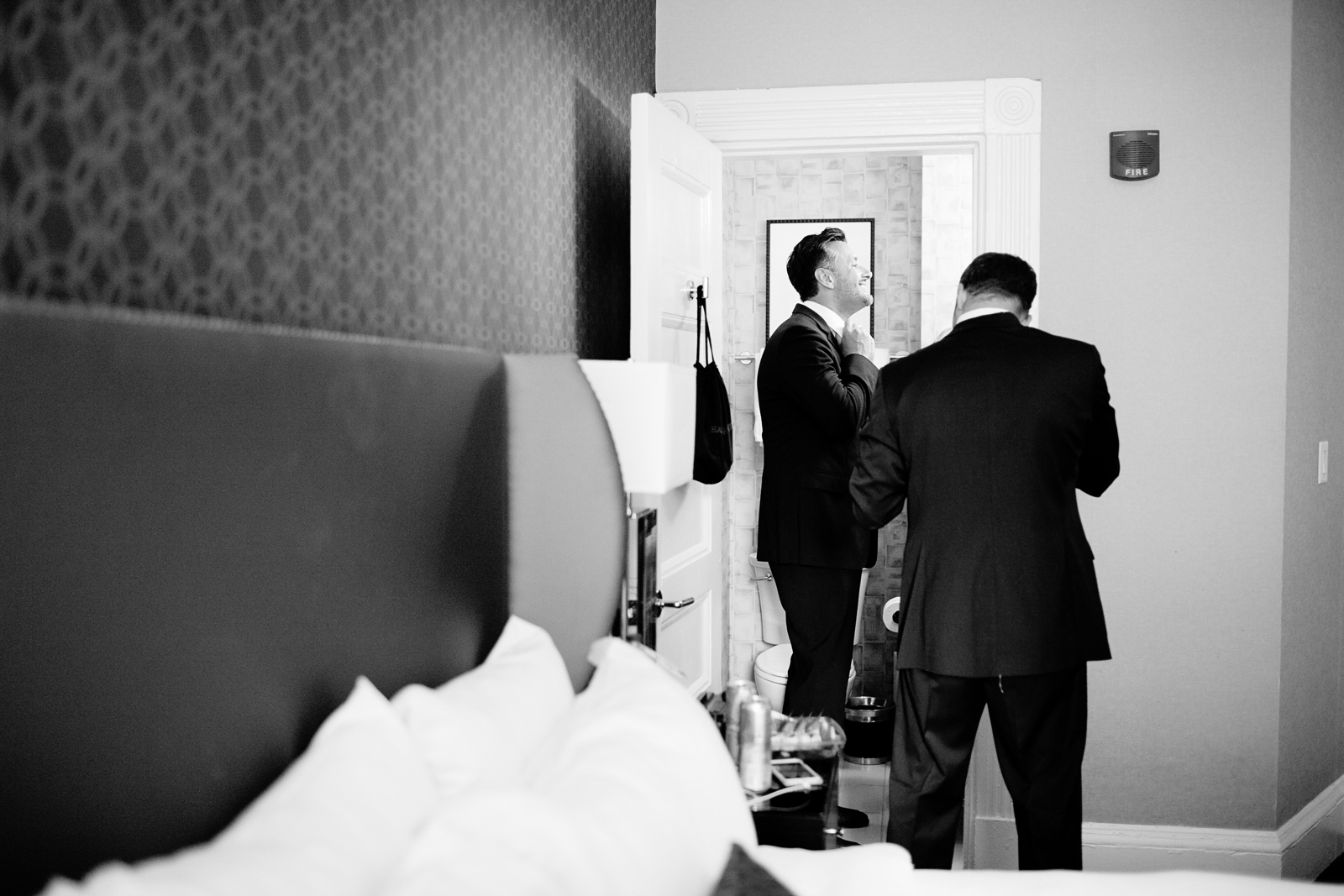 classic groomsmen getting ready