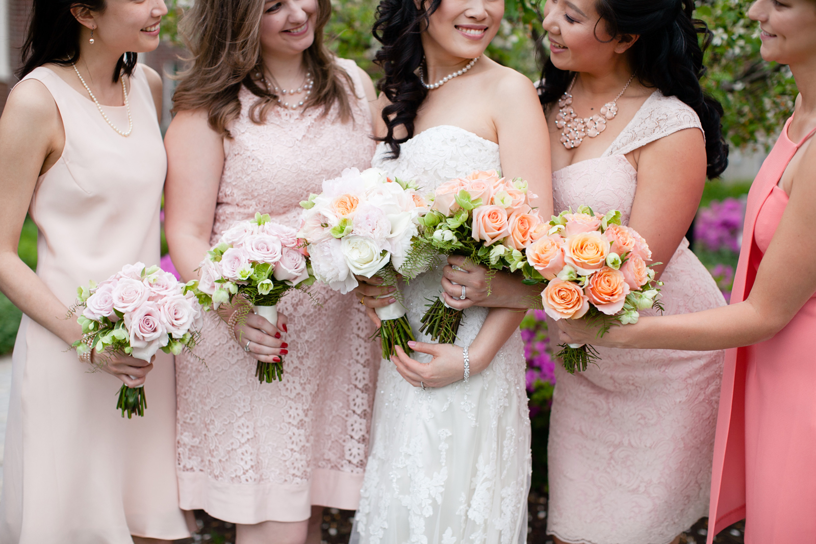 pink and blush bridesmaids