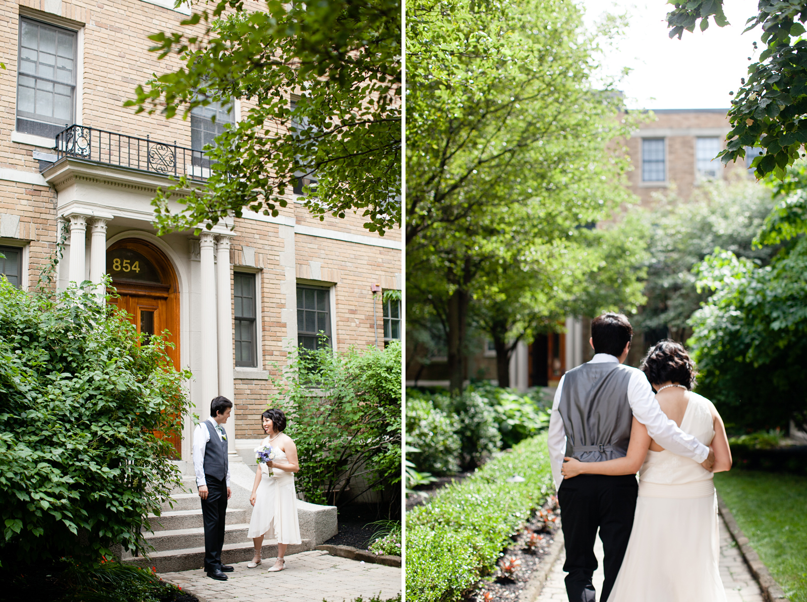 cambridge courtyard wedding