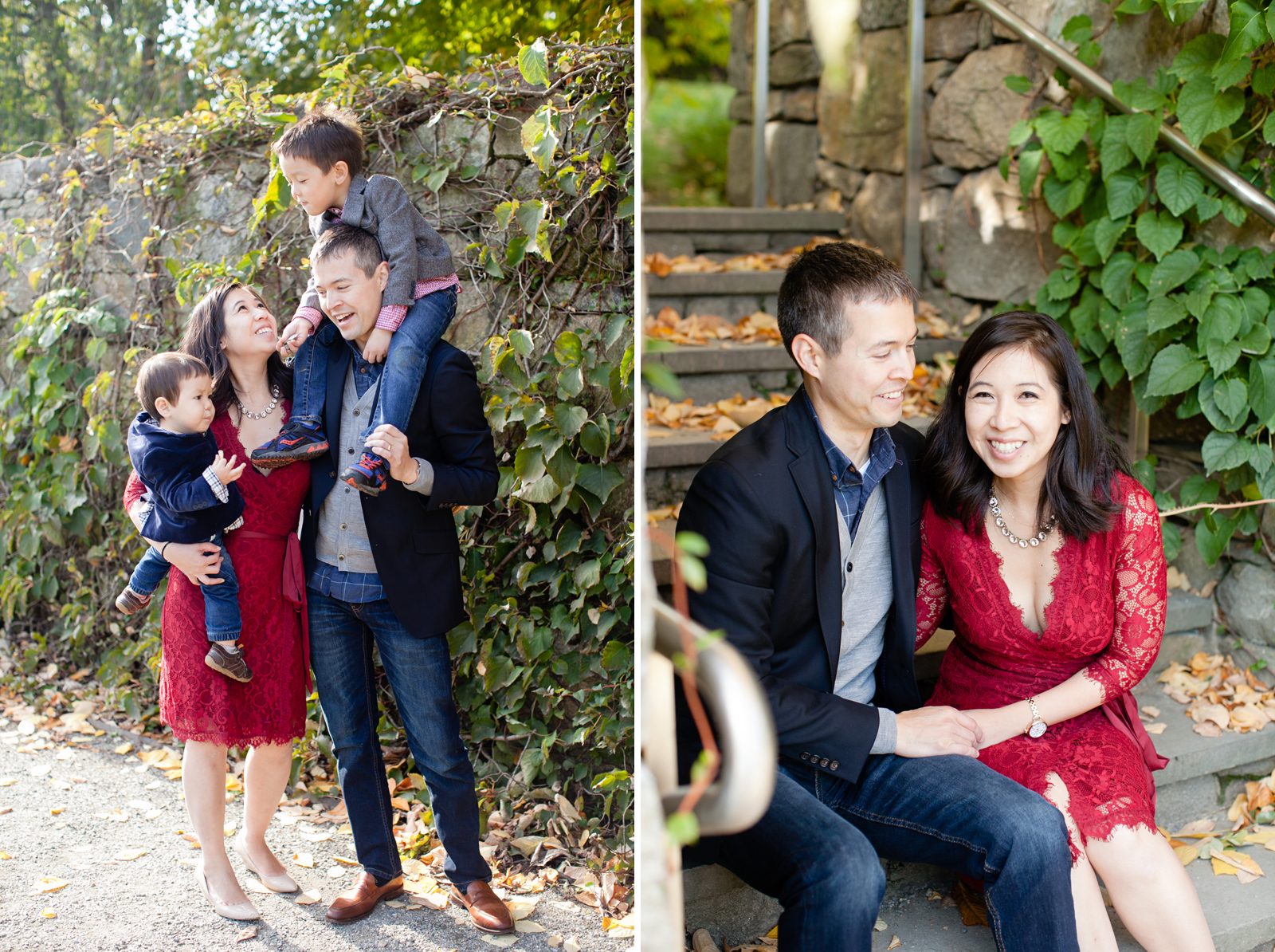 outdoor garden family session