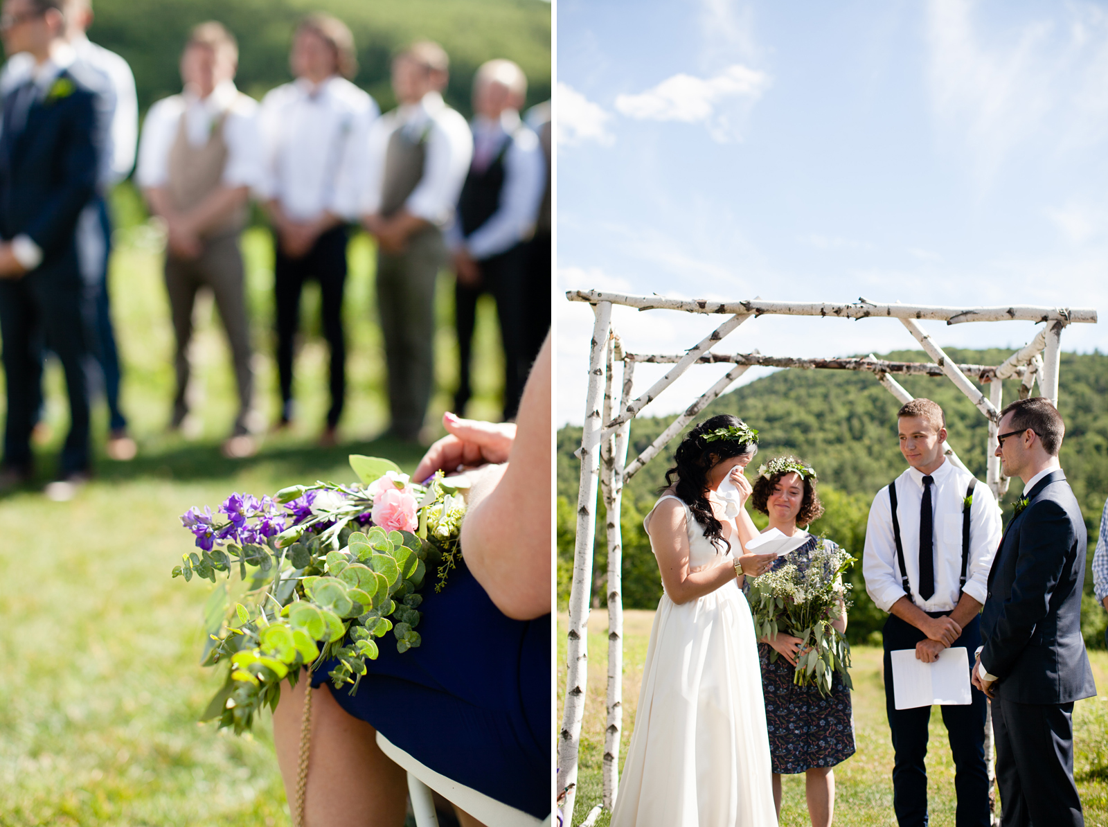 wedding ceremony at the montague retreat center in western mass