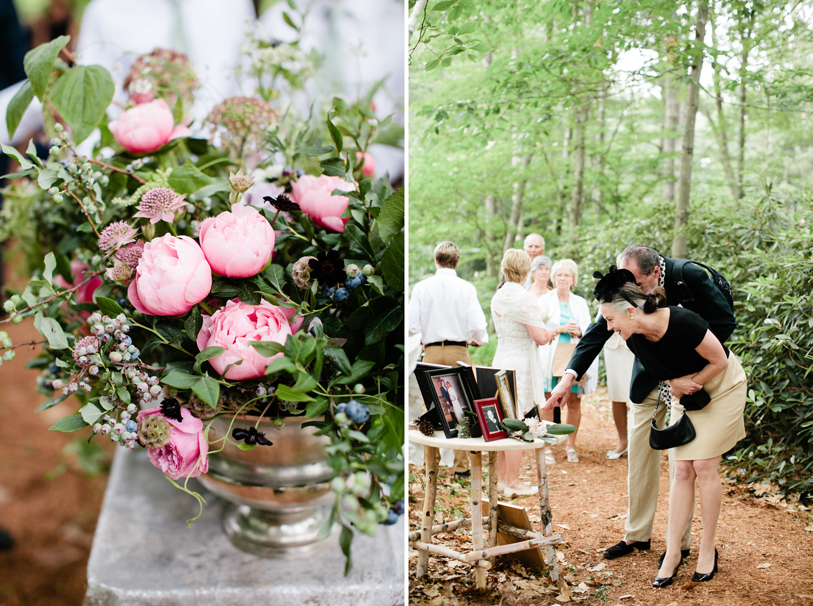 forest wedding in new hampshire