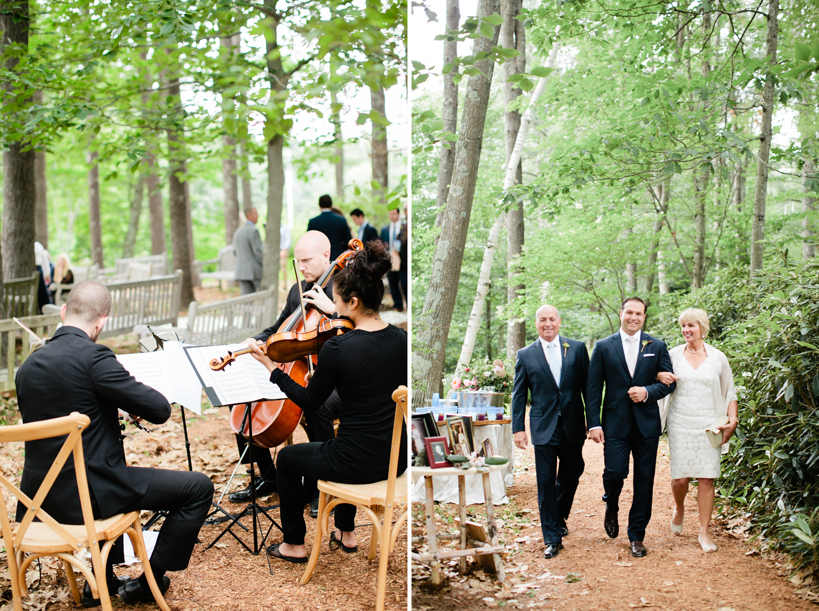 new hampshire wedding in the forest