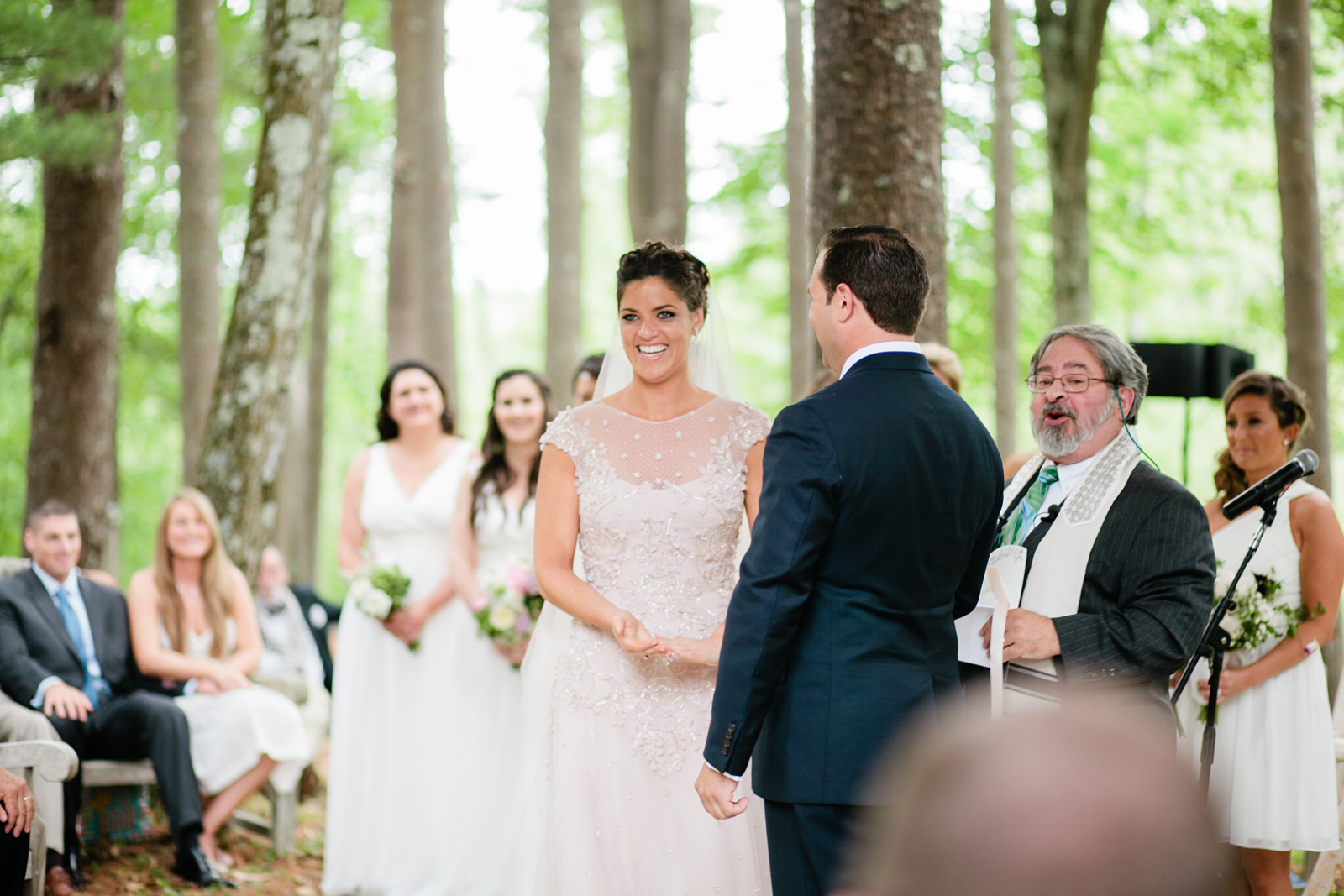 new hampshire wedding in the woods