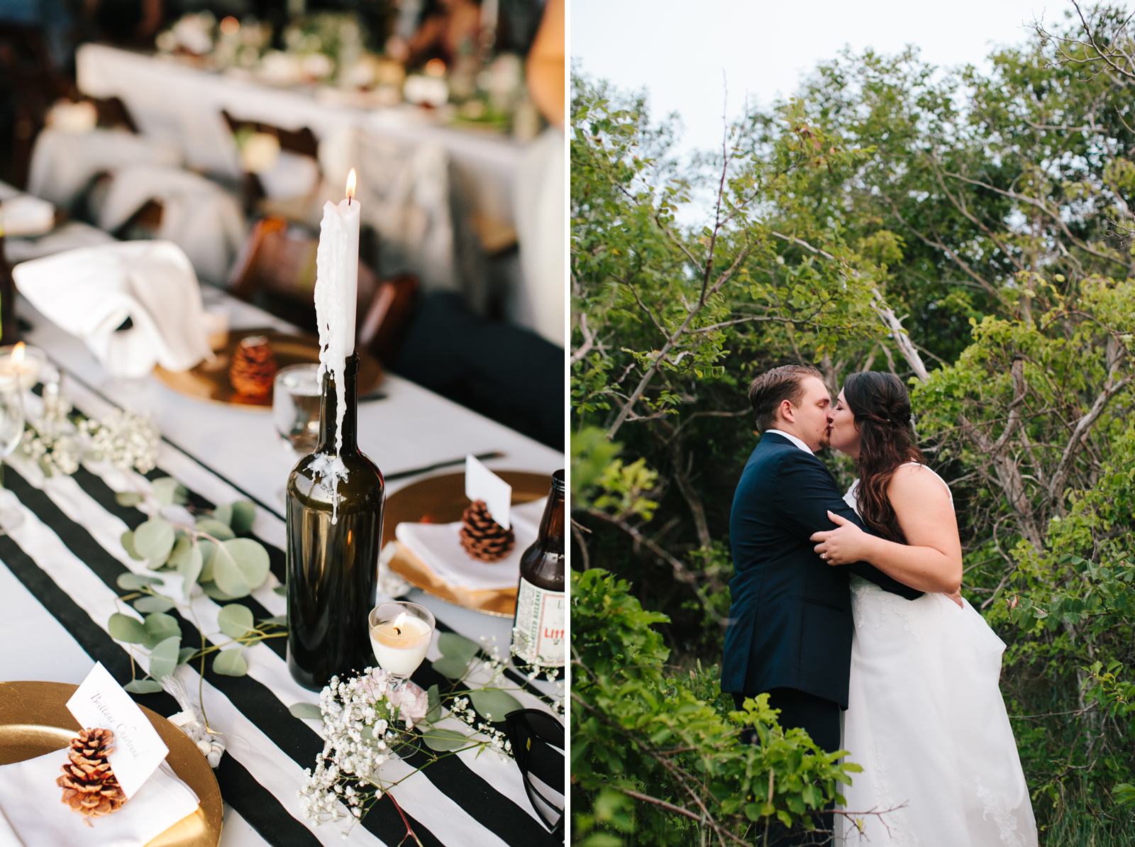 outdoor fall wedding in new england