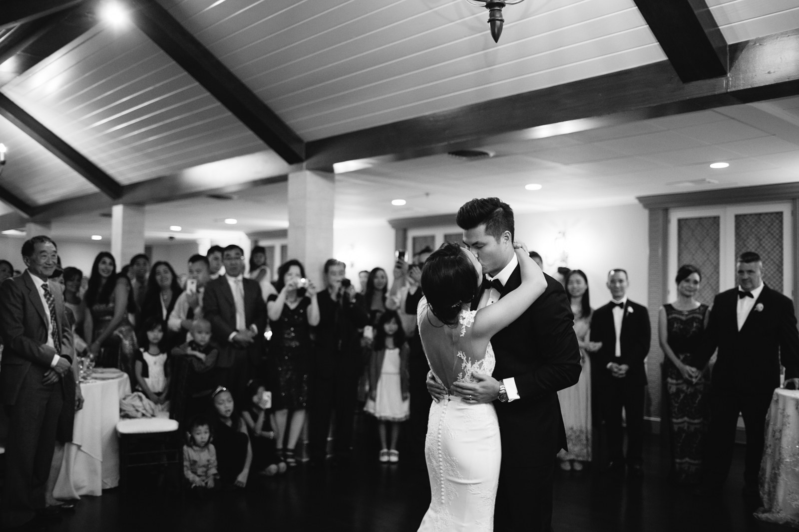romantic first dance at the Villa