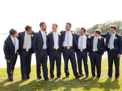 coastal groom and groomsmen