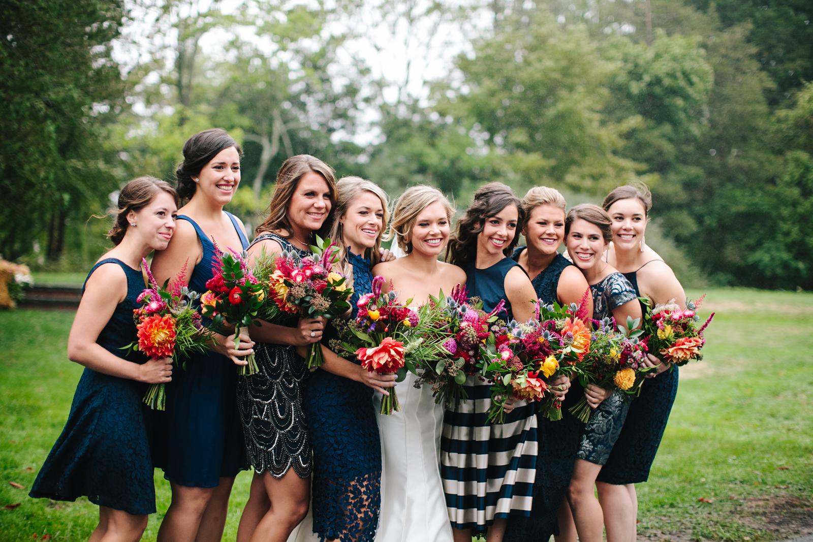 New England Fall Wedding Jewel Tone Flowers